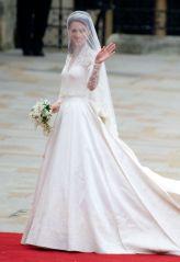 Stunning Bride Alexander McQueen Gown 2011. Dave M. Bennet/Getty Images.