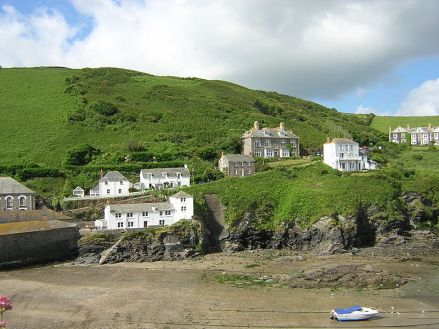 "View of Doc Martin's fictional home, which is actually ""Fern Cottage"" shown in the centre of the picture. Photo: S. Beech"