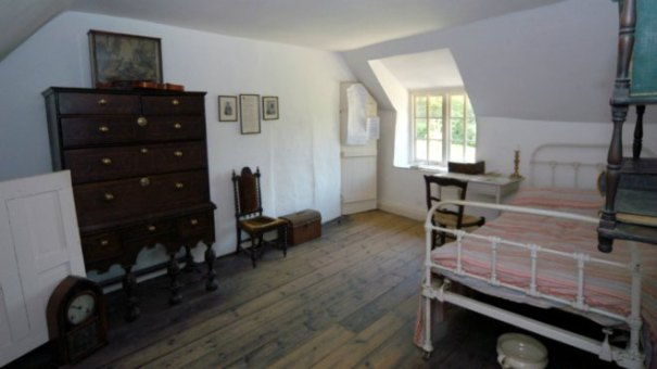 Hardy wrote his early novels at the desk by the window
