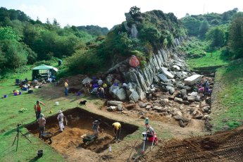 Excavations Craig Rhos-y-felin quarry Wales