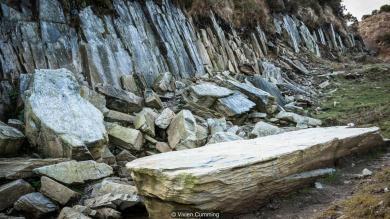 Excavations at the Craig Rhos-y-felin quarry,