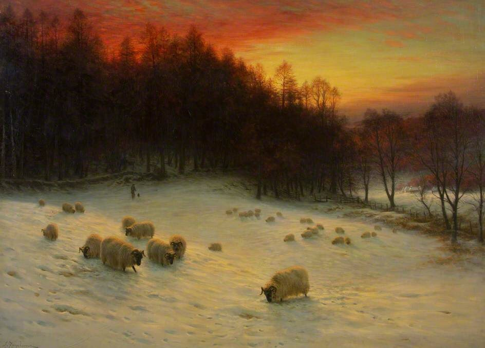 """""""When the West with Evening Glows"""" (Scotland, 1910) Oil on canvas, By Joseph Farquharson"""