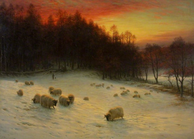 """When the West with Evening Glows"" (Scotland, 1910) Oil on canvas, By Joseph Farquharson"