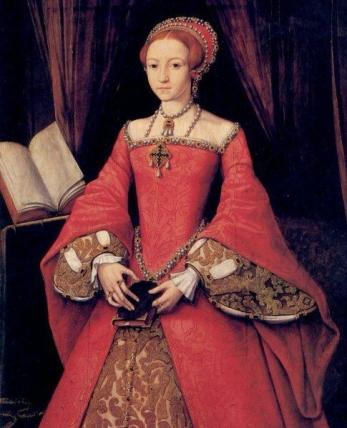 Princess Elizabeth, c1546, by William Scrots. Daughter of Anne Boleyn
