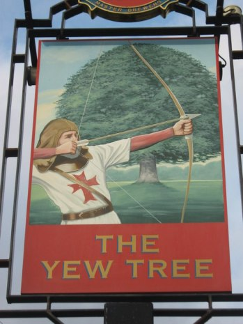 The 'Yew Tree' Pub Sign