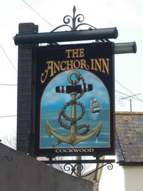 The Anchor Inn at Cockwood. South Devon. image Bridgemarker.
