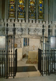 HRH The Princess Margaret, casket now rests in the , St George's Chapel, Windsor,