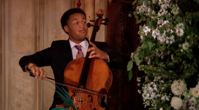 Sheku with his cello