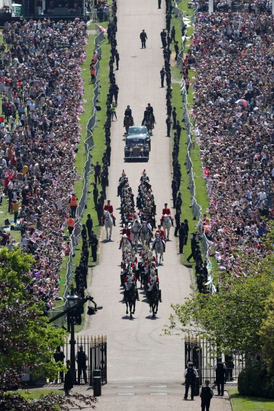 Royal Wedding Long Walk Windsor. Getty Images Getty Images-