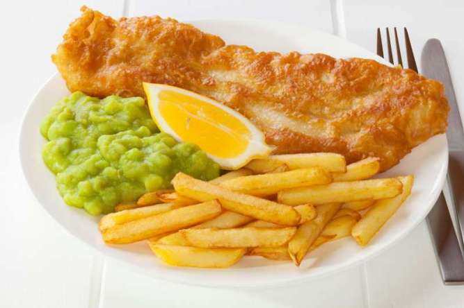 Fish Chips & Mushy Peas