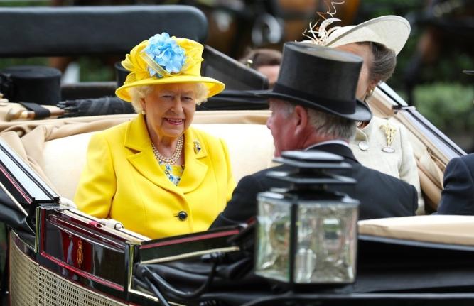 Queen Elizabeth II arrives at Royal Ascot  2018